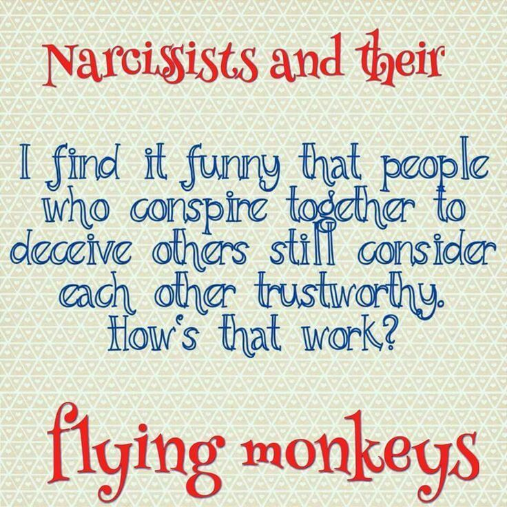 Narcissists and their flying monkeys