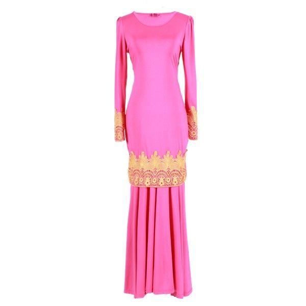 Kurung Golden Lace Pink