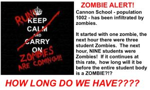 Creating a Need for Logarithms with Zombies | I Speak Math