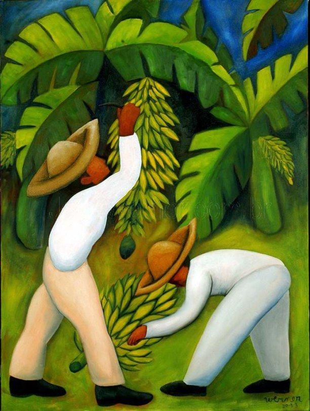 Bananal, 2003 João Werner (Brasil, 1962) óleo sobre tela, 60×80 cm  www.joaowerner.com.br