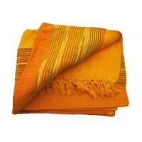 Tenture Kérala plaid couvre-lit Orange/Mandarine