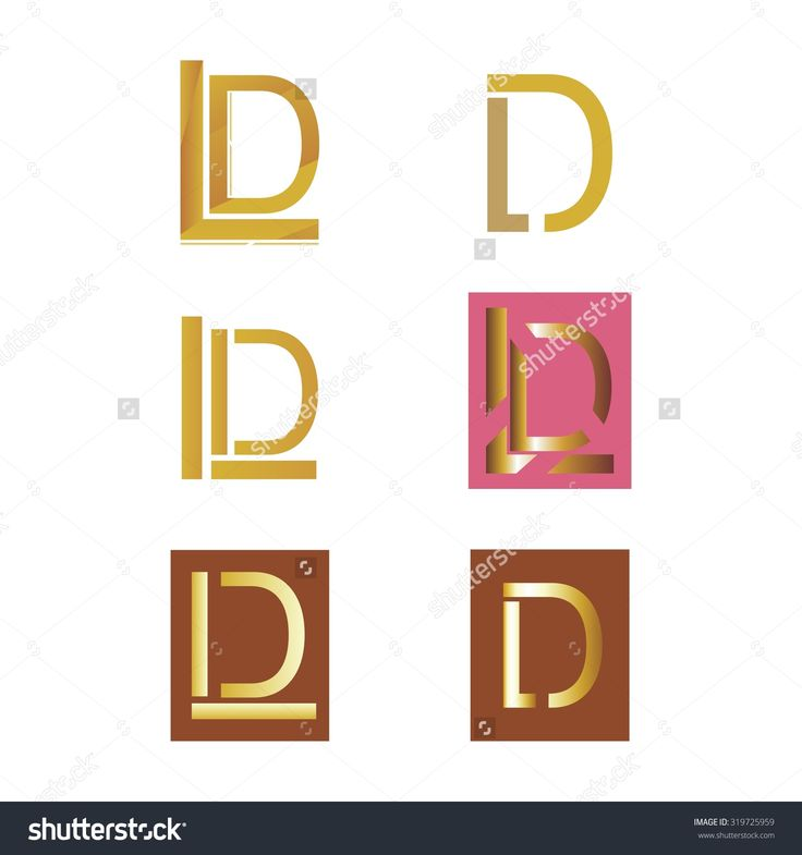 #golden #L and #D #letter #logo symbols