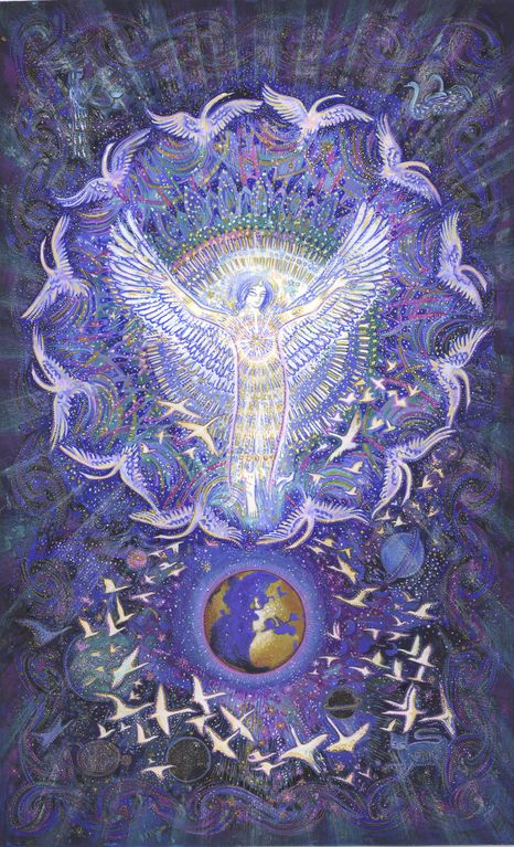 XXI. Messages de l'ange liberté - MYRRHA, créatrice, peintre, artiste de l'âme et de la lumière