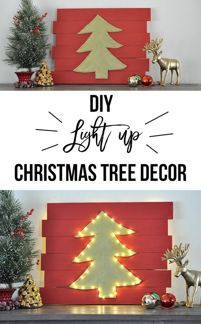 led christmas wall decor