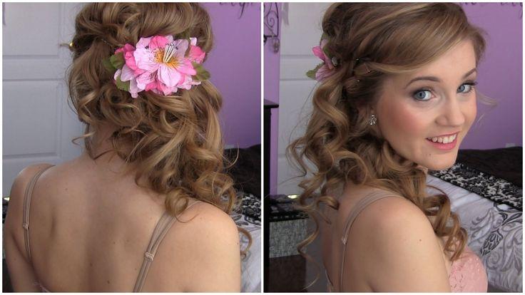 Side Swept Cascading Curls – Easy DIY prom hair tutorial! via YouTube