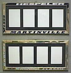 Picture Frames from Hockey Sticks...for all my hockey mom friends.