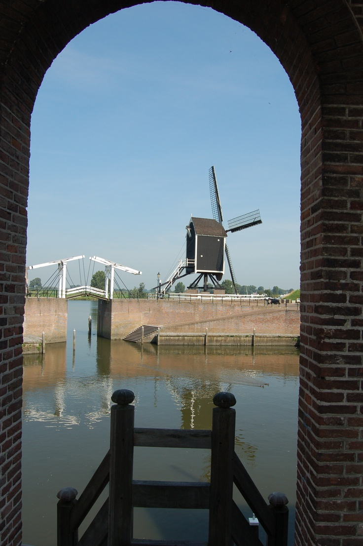 I love the Dutch landscape with the mills