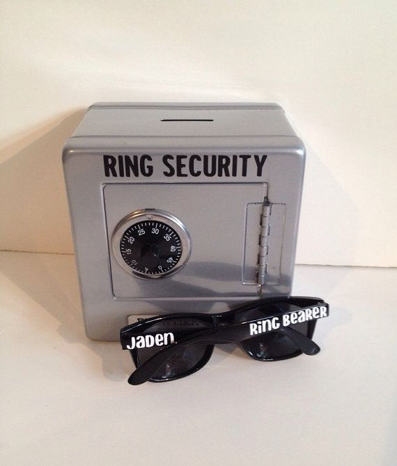 Ring Security Safe AND Sunglasses Combination Kit, Ringbearer gift, Ring Agent, Ring bearer