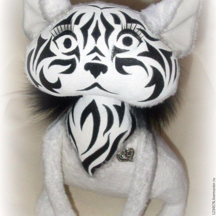 Купить Кошка - чёрно-белый, кошка, котенок, котик, ручная работа, ручная работа handmade
