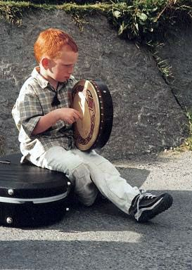 Young Bodhran Player ... Co. Clare, Ireland
