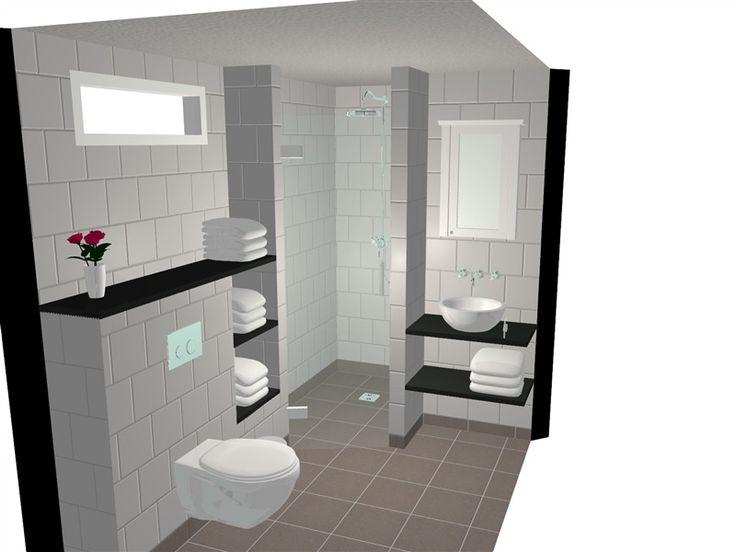 Badkamer ontwerp in ons 3d teken programma van een for Keuken in 3d tekenen