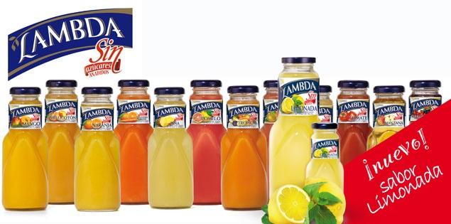 Naturales y sin azúcares añadidos, así son los zumos y néctares de fruta Lambda sin.     Somos especialistas en extraer lo mejor de la fruta, sus propiedades mejor guardadas: desde las más placenteras como son el sabor y el aroma, hasta las más nutritivas para nuestro cuerpo.     Descubrimos el secreto para conseguir que los zumos y néctares nos provoquen las mejores sensaciones. Y sin olvidar tu salud. Para que disfrutes. Para que te cuides.