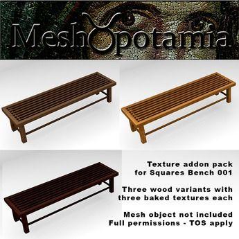 Meshopotamia Squares Bench 001 Texture Addon