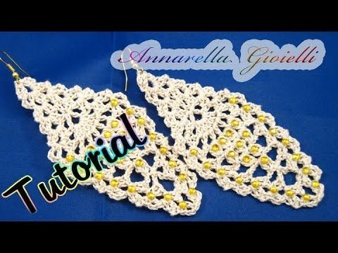 "Tutorial orecchini ""leaf"" foglia all'uncinetto | How to crochet earrings."