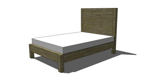 Free DIY Furniture Plans to Build a West Elm Inspired Emmerson King Bed | The Design Confidential