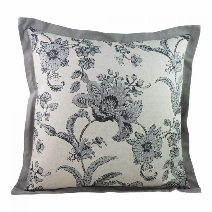 Cuscino Grey Floral Cushion 45X47 - Cushions - Homewares