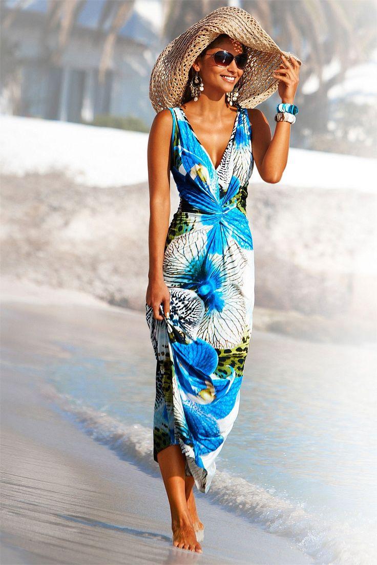 Dresses - Heine Flower Print Maxi Dress - EziBuy New Zealand