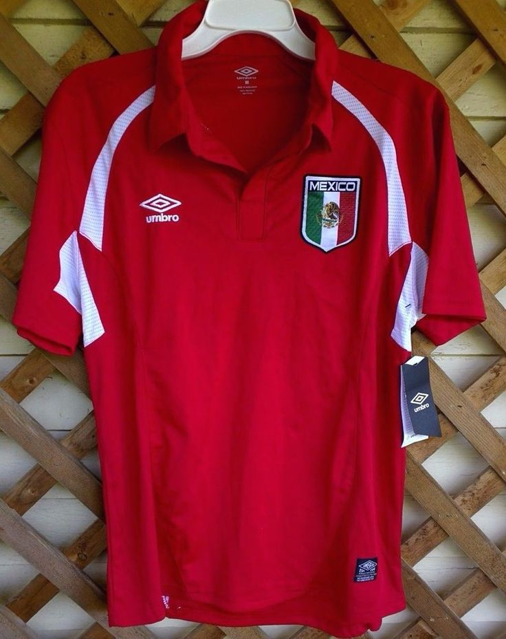 NWT Umbro Mens M Red Jersey Athletic Shirt Mexico Soccer Futbol Football Sports #Umbro #Mexico