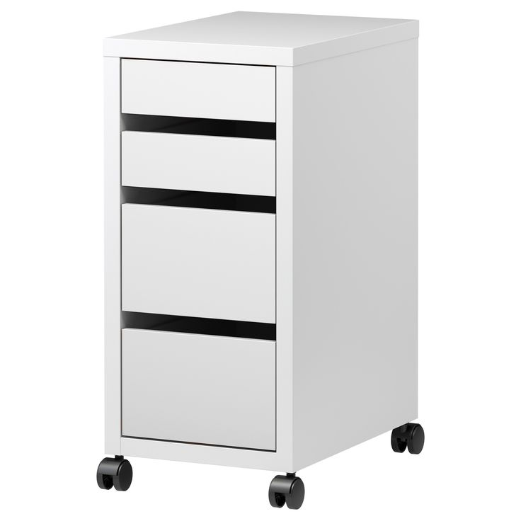 micke caisson tiroirs sur roulettes blanc coins. Black Bedroom Furniture Sets. Home Design Ideas