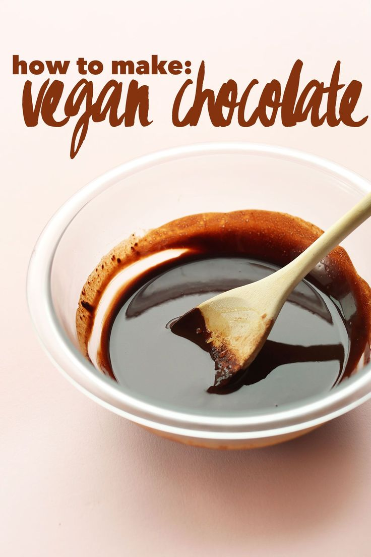 EASY Step by Step tutorial on how to make VEGAN CHOCOLATE! Naturally sweetened and SO delicious #vegan #chocolate #recipe