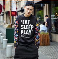Casual pullover uomini europa via battere all'inizio della primavera 2015 modelli da passerella stampato girocollo maglione di copertura spedizione gratuita