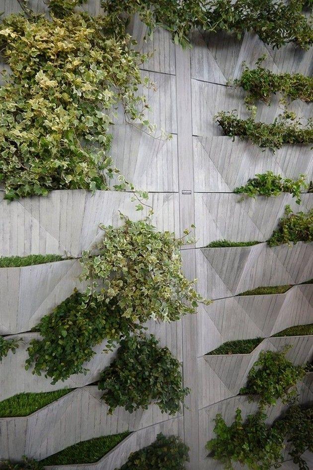 Green living wall jardines verticales pinterest for Pinterest jardines verticales