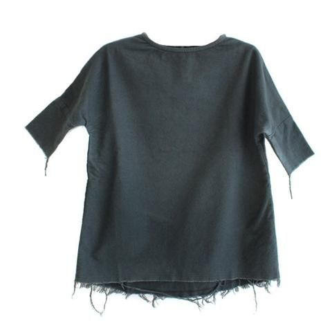 Black Crane Kids Painter Dress Dark Grey