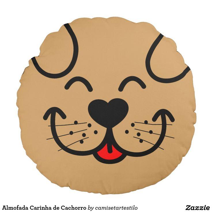 Almofada Carinha de Cachorro Almofada Redonda