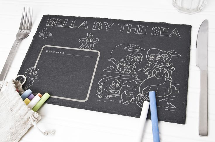 Personalised Childrens Placemat – Choose Theme  Kids Chalkboard personalised