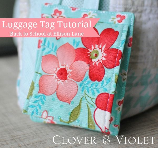 Check out this quick and easy fabric luggage tag pattern and free tutorial. It will make identifying your luggage a breeze!