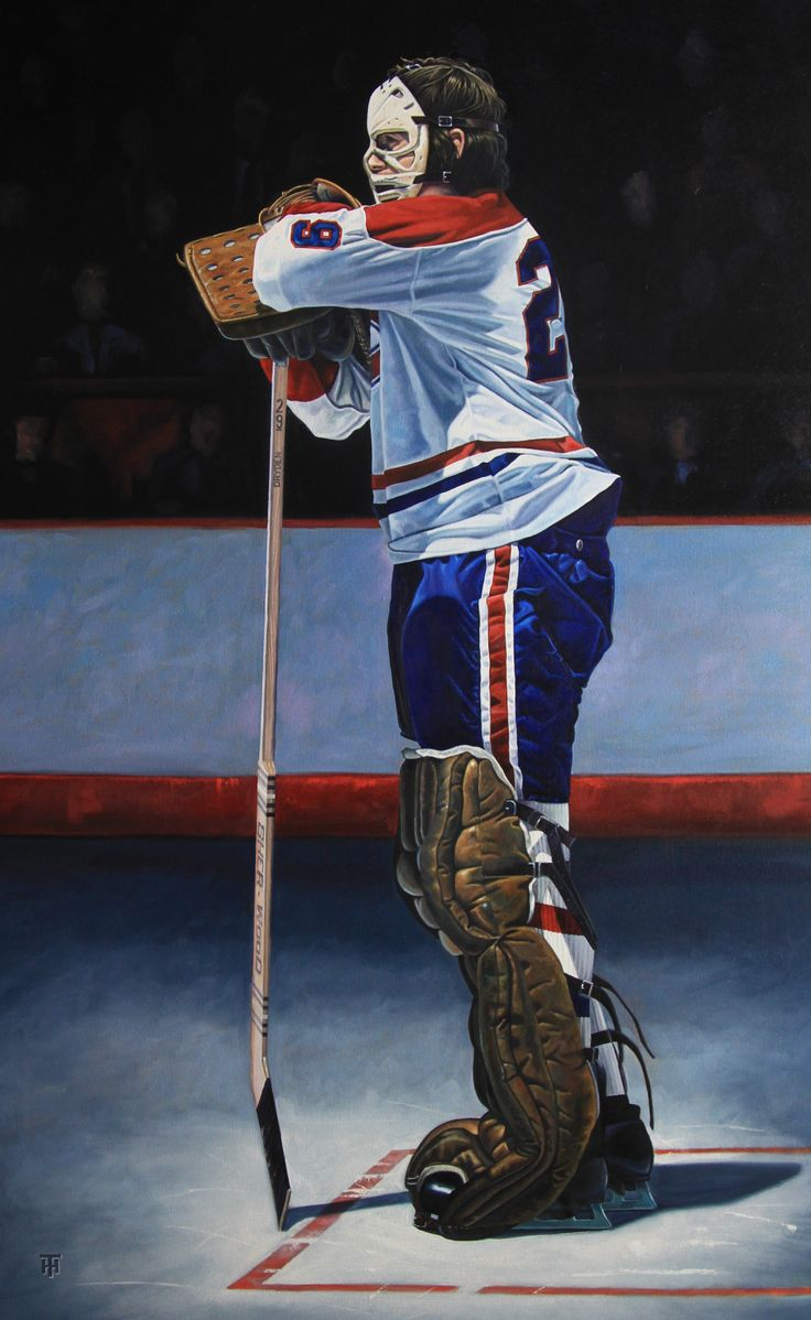 """The Pose"" -- Ken Dryden 48 x 30 inches by Tony Harris"