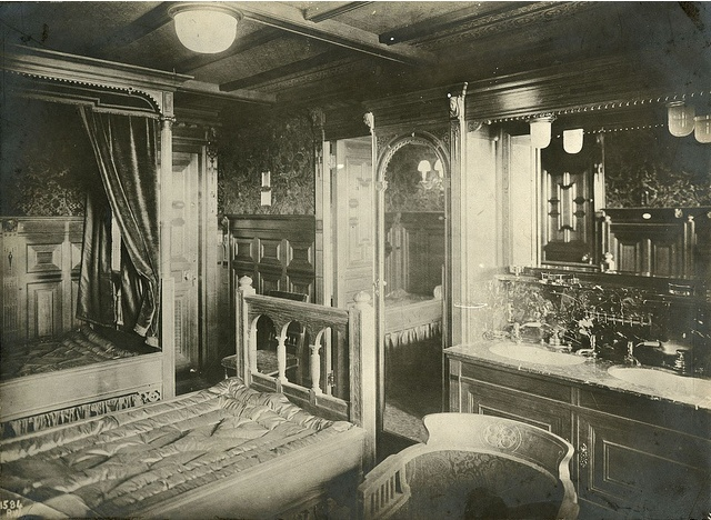 R m s titanic interior of first class cabin in dutch Who was on the titanic in first class