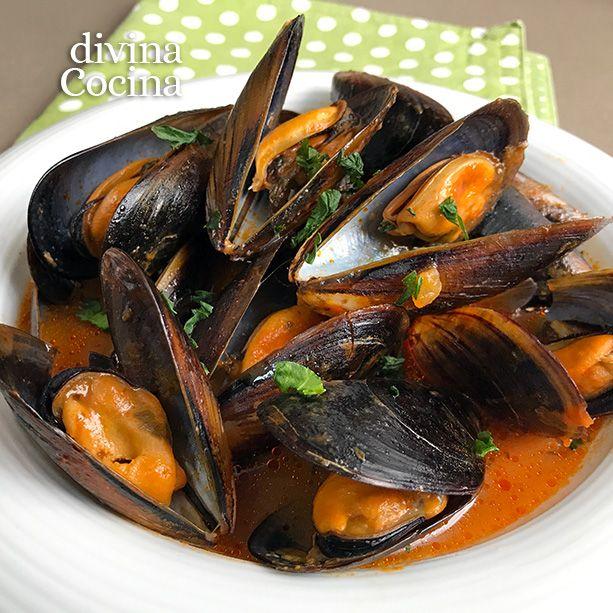 Estos mejillones a la diabla se preparan con una salsa marinera con un punto picante, muy sabrosos y con una receta fácil.