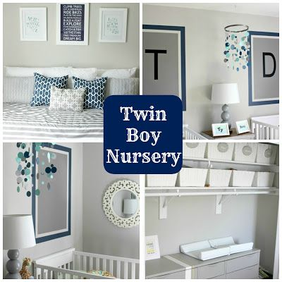 twin boy nursery at Our Pinteresting Family