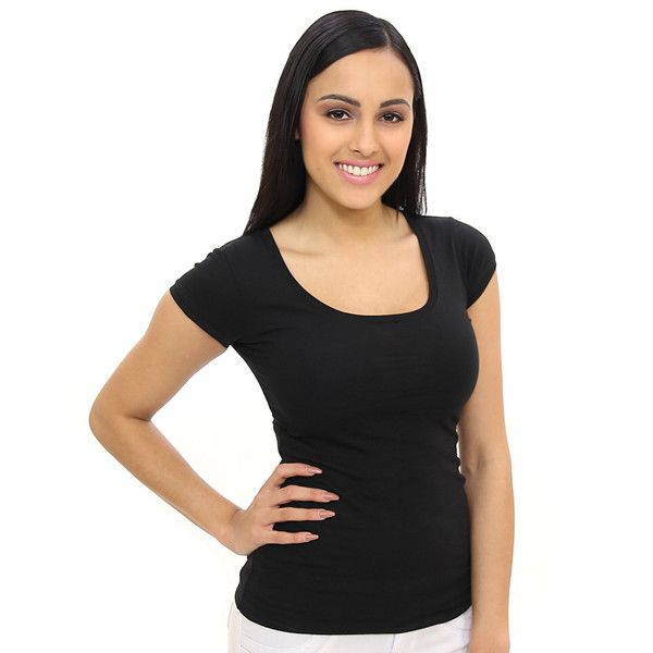 Goes With Anything Black Scoop-Neck Tee