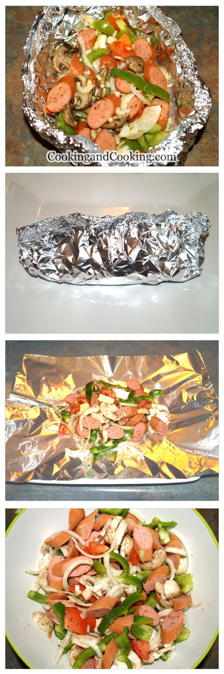 Sausage and Vegetables in Foil Packet Recipe