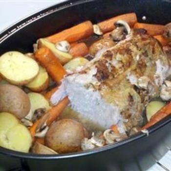 Pork Butt Roast with Vegetables #recipe #pork #roast