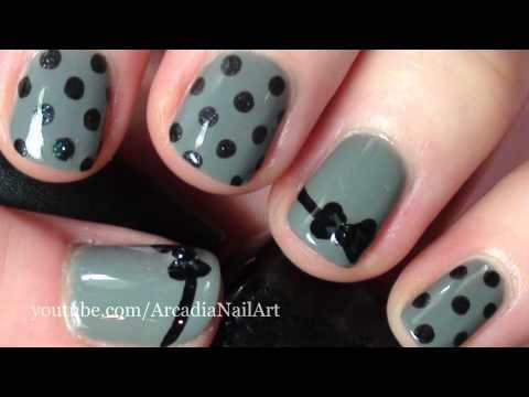 ✻❀ Blog - http://www.arcadianailart.com ✻❀✺✼❂  ✺❂ Facebook - https://www.facebook.com/arcadianailart ❂✺  ✺✼ Twitter - https://twitter.com/ArcadiaNailArt ❀✼    A really simple way of doing a bow...I hope you like it.    Inspired by many designs, including work by Meliney and PlasmaSpeedo.    Items used...    Recycle by China Glaze (grey base colour)  Baby I...