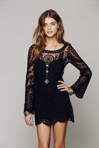 Free People Bell Sleeve Dress-lace so spring 2014 and my style