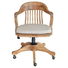 1940s Banker's Chair Natural Oak