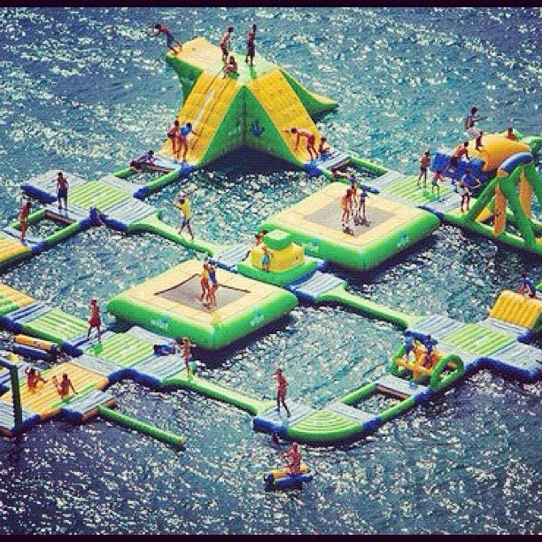awesome.Lakes House, Obstacle Course, Dreams, Water Fun, Awesome, Summer Fun, Water Parks, Summerfun, Playgrounds