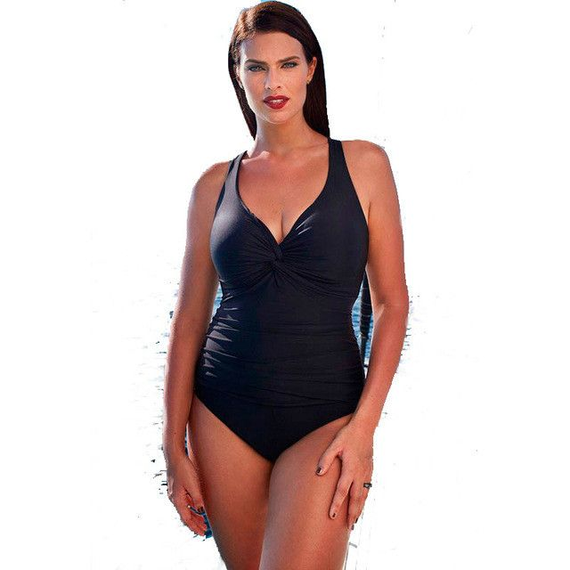 Plus Size One Piece Vintage Retro Swimsuit