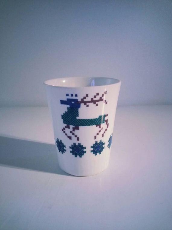 Vintage Figgjo Flint Turi Design Noway Mug decor Menu..