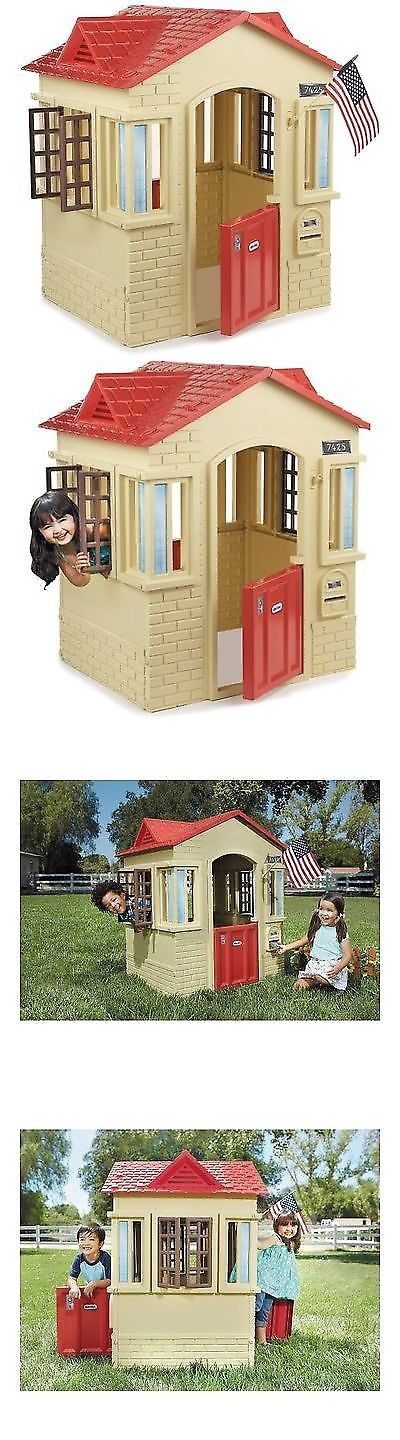 Dollhouse Size 19179: Little Tikes Cape Cottage Playhouse Kids Outdoor Backyard Cabin Tan -> BUY IT NOW ONLY: $115.56 on eBay!