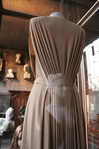 Madame Gres Grecian Dress - beautiful gathering / pleating detail