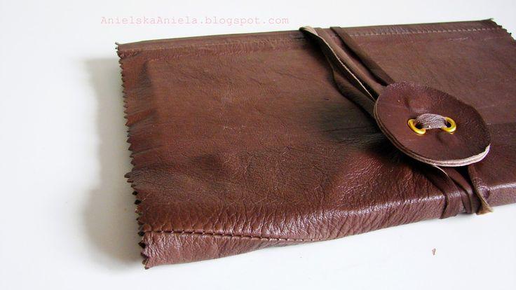 DIY Tutorial leather notebook skórzany notatnik zeszyt diy jak zrobić?