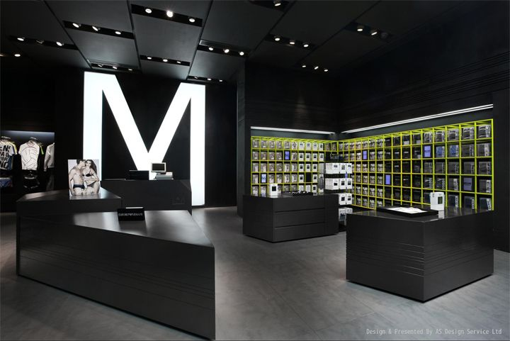 Black and white retail design                                                                                                                                                                                 More