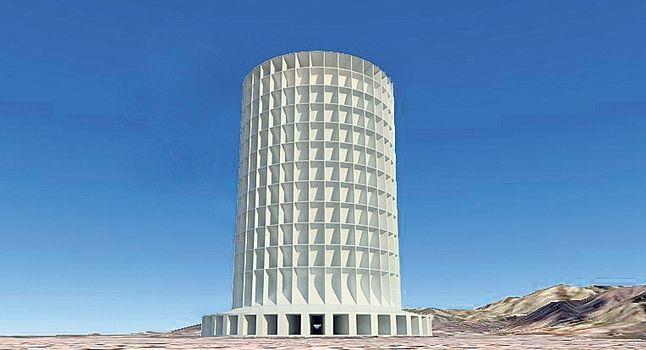 Egy paksi erőműnek megfelelő áramot tud majd előállítani a nap-szél torony!