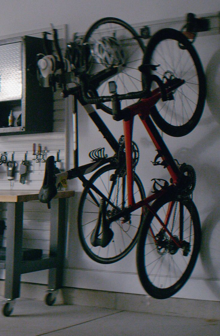 Look jeremy s bicycle rack apartment therapy - Gladiator Bike Storage Reach For More