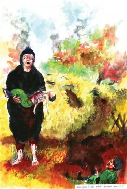 Gallery khojaly paintings by children justice for for Paintings of toddlers